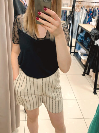 Short beige et noir