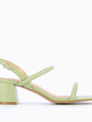 Sandales à talon minimalistes vert pastel